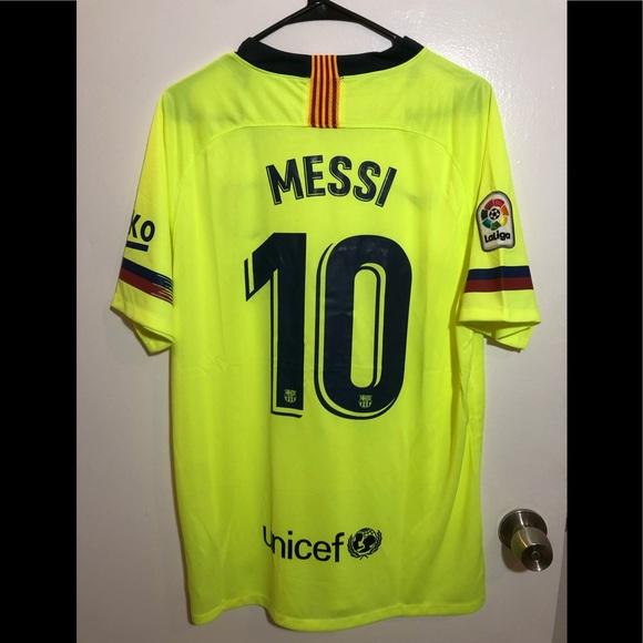 wholesale dealer 21de9 3de59 NWT 2018-19 FC Barcelona Messi Jersey Adult L